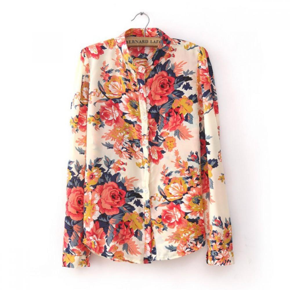 Блузка С Цветочным Принтом С Доставкой