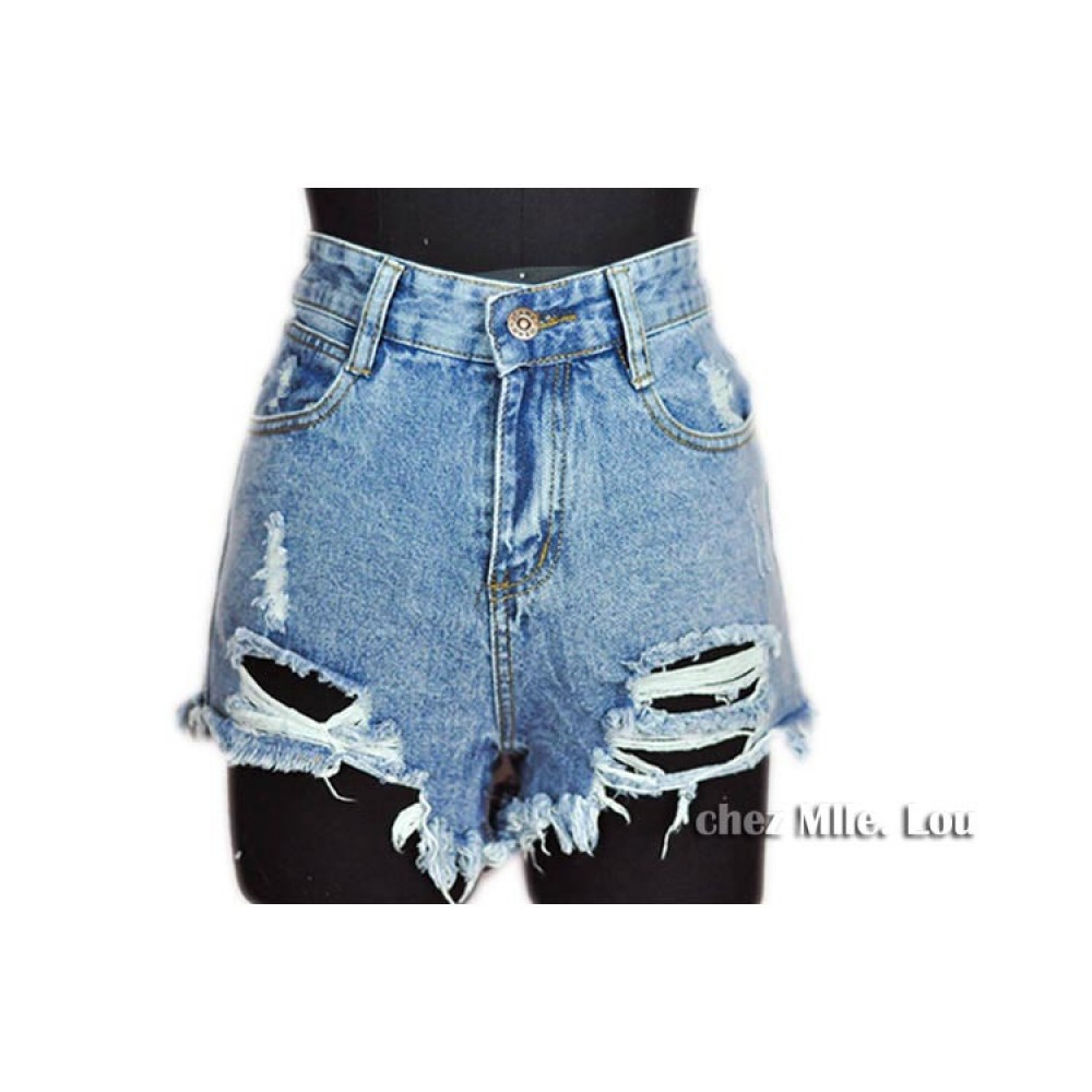 Джинсовые шорты с вышитыми цветами - The Informal Shop 75