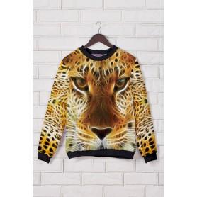 Кофта с леопардовым принтом
