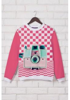 Розовый свитшот «Ретро»