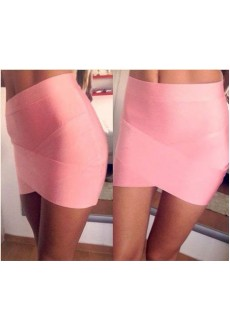 Эластичная мини-юбка