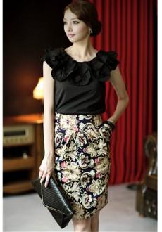 Элегантная юбка с карманами